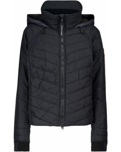 Пуховая черная стеганая куртка Canada Goose
