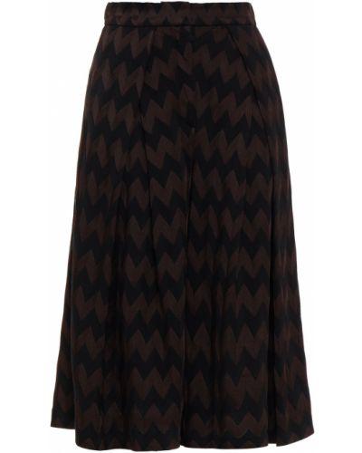 Шерстяные черные кюлоты с карманами Missoni