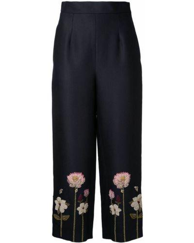 Черные укороченные брюки с поясом Vilshenko