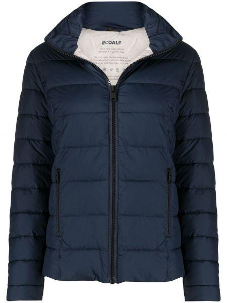С рукавами синяя стеганая куртка с карманами с заплатками Ecoalf