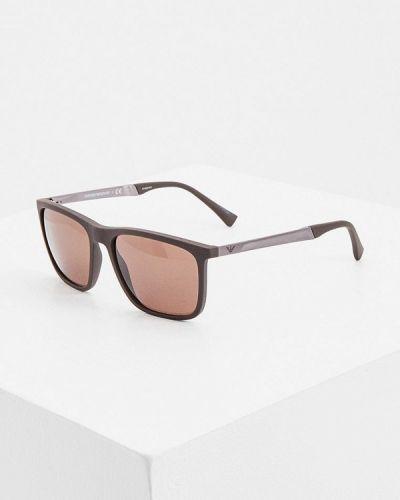 Коричневые солнцезащитные очки квадратные Emporio Armani