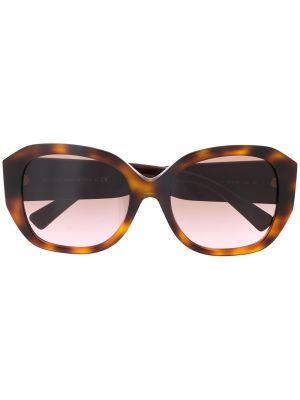 Солнцезащитные очки металлические хаки оверсайз Valentino Eyewear