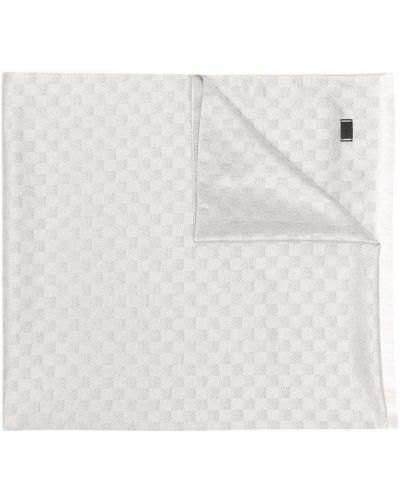Biały szalik z frędzlami Emporio Armani