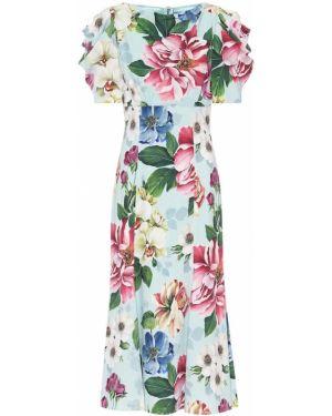 Платье миди с цветочным принтом теплое Dolce & Gabbana