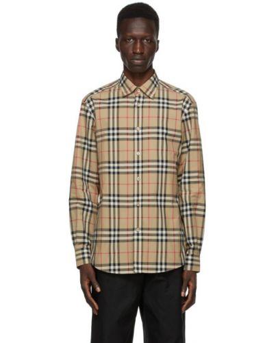 Bawełna z rękawami czarny koszula z mankietami Burberry
