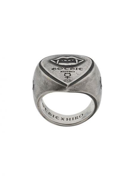 Pierścionek srebrny asymetryczny na co dzień Yohji Yamamoto