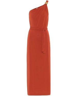 Вечернее платье через плечо Max Mara