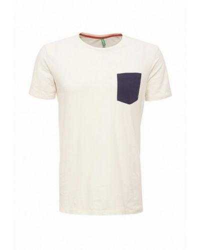 Бежевая футболка United Colors Of Benetton