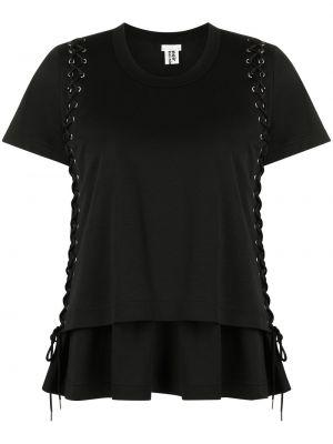 Прямая хлопковая черная футболка Comme Des Garçons Noir Kei Ninomiya