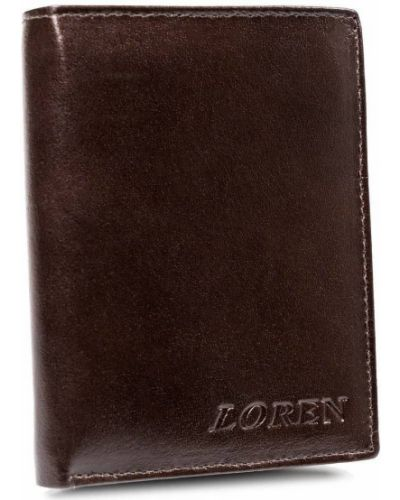 Czarny portfel skórzany oversize Loren