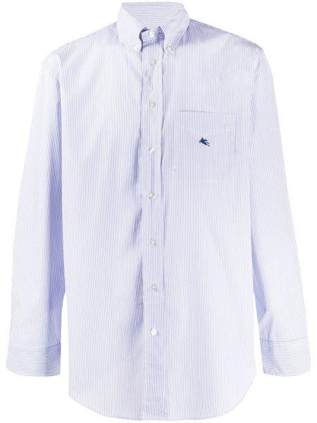 Koszula z długim rękawem długa niebieski Etro