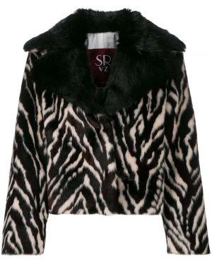 Коричневая длинная куртка Simonetta Ravizza