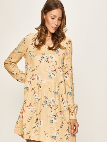 Хлопковое платье с вырезом со складками Roxy