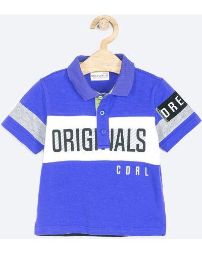 T-shirt elastyczny niebieski Coccodrillo