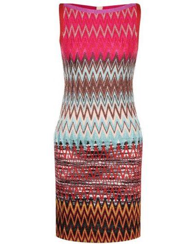 Платье мини в полоску вязаное Missoni