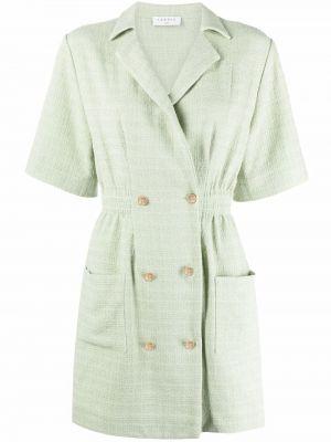 Зеленое платье твидовое Sandro Paris