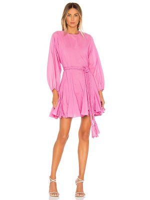 Różowa sukienka z paskiem bawełniana Rhode