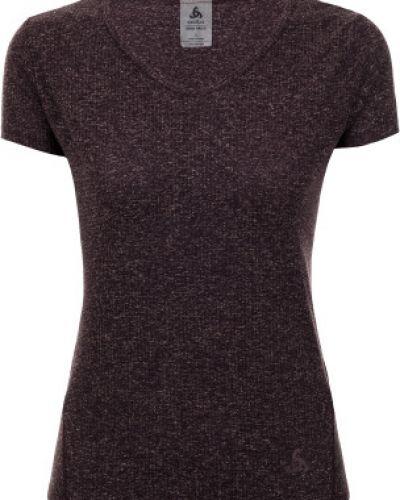 Спортивная футболка в полоску фиолетовый Odlo