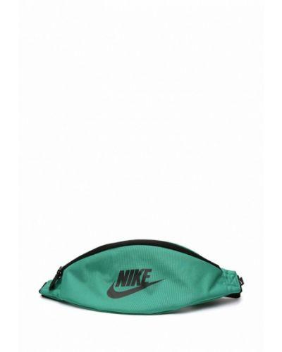 Зеленая поясная сумка Nike