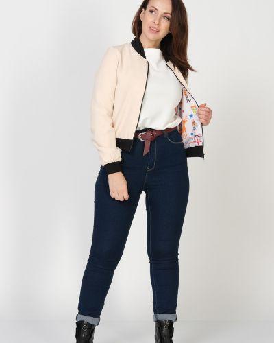 Пиджак с воротником-стойка - бордовый Amarti
