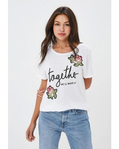 Белая футболка индийская S.oliver