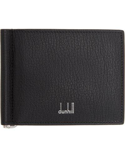 Czarny portfel srebrny Dunhill