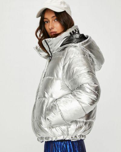 Стеганая куртка утепленная с капюшоном Answear