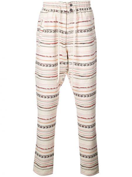 Spodnie w paski bawełniane Alchemist