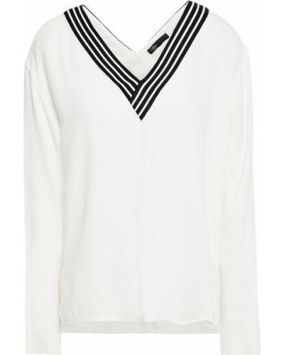 Вязаная белая блузка из вискозы Maje
