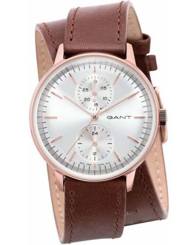 Różowy złoty zegarek mechaniczny kwarc Gant