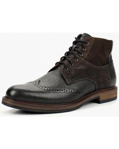 Ботинки осенние кожаные высокие Domeno