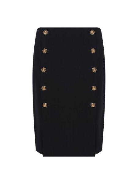 Синяя юбка карандаш с поясом с рукавом 3/4 на пуговицах Ralph Lauren