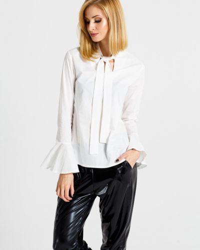 Блузка однотонная с рюшами Naoko