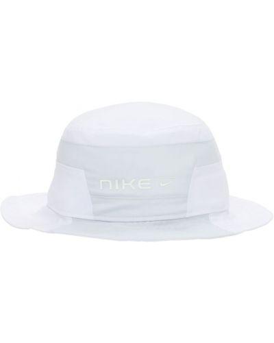 Biały kapelusz Nike