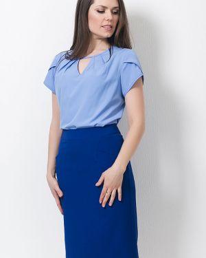 Облегченная с рукавами блузка с V-образным вырезом без застежки Modellos
