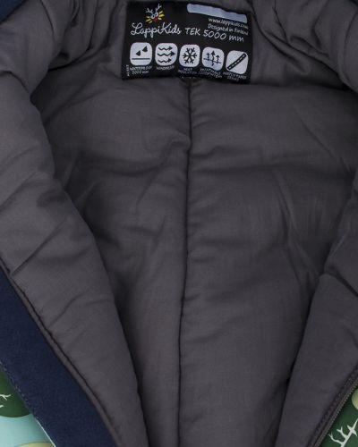 Зимний комбинезон с капюшоном зеленый Lappi Kids