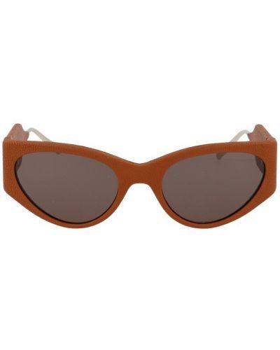 Brązowe okulary Salvatore Ferragamo