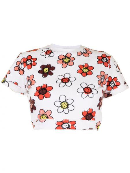 Biała koszulka bawełniana Miaou