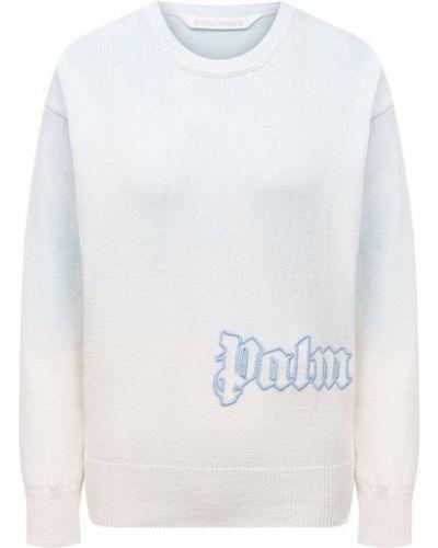 Синий трикотажный пуловер Palm Angels