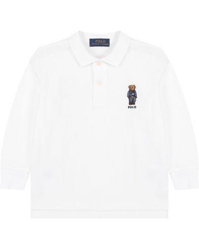 Поло белое Ralph Lauren