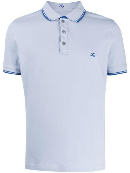 Koszula krótkie z krótkim rękawem klasyczna niebieski Fay