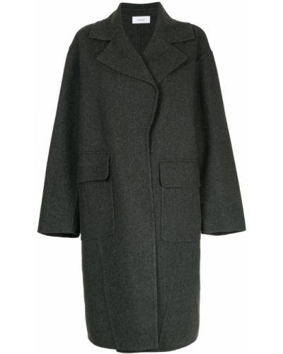 Серое пальто однобортное Astraet
