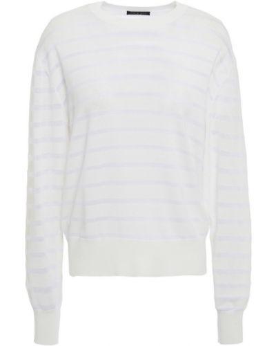 Biały sweter w paski z wiskozy Rag & Bone