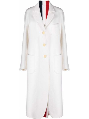 Белое пальто миди Thom Browne