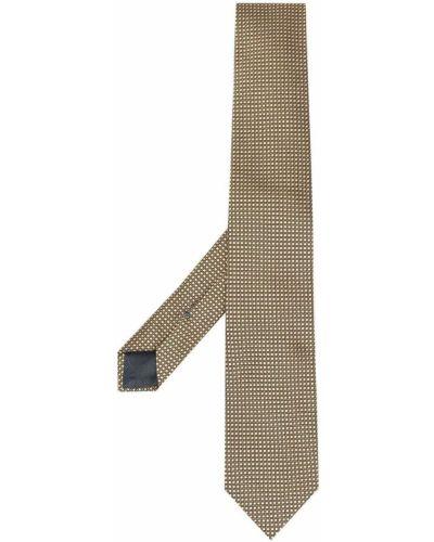 Żółty krawat z jedwabiu w szpic Ermenegildo Zegna