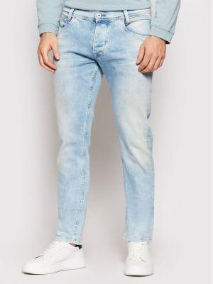 Mom jeans - niebieskie Pepe Jeans