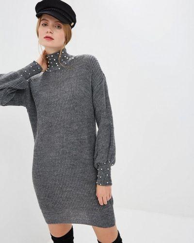 Платье серое вязаное Zuiki