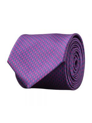Krawat z wiązaniami - fioletowy Borgio