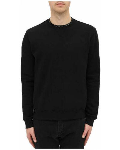 Bluza z nadrukiem z printem - czarna Saint Laurent