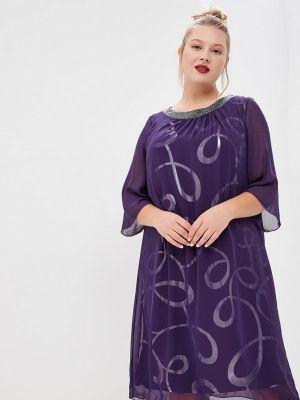 Платье осеннее фиолетовый Olsi